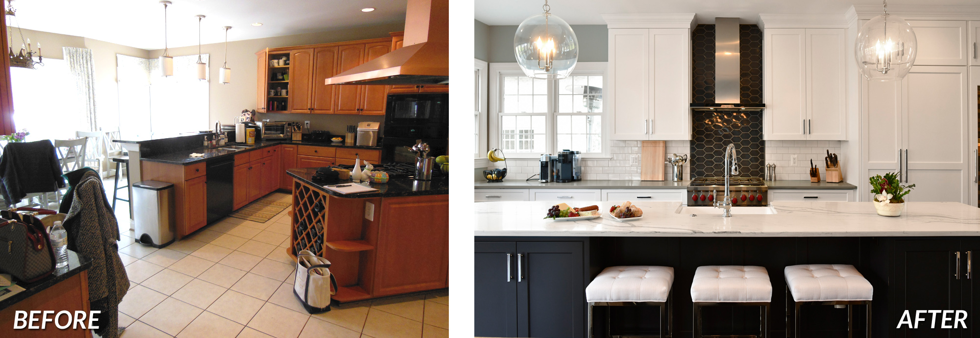 BOWA Design Build - Leesburg Kitchen Remodel Before & After