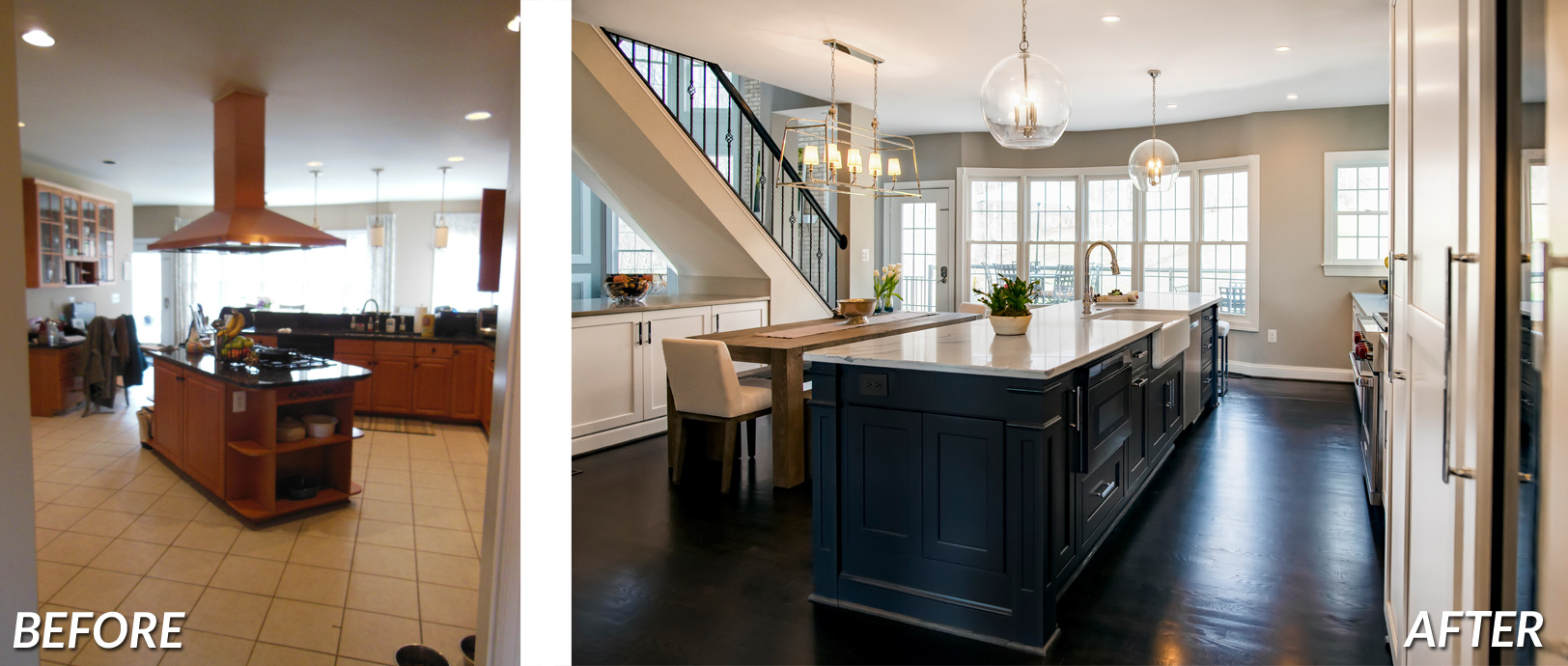 BOWA Design Build - Leesburg Kitchen Renovation Before & After