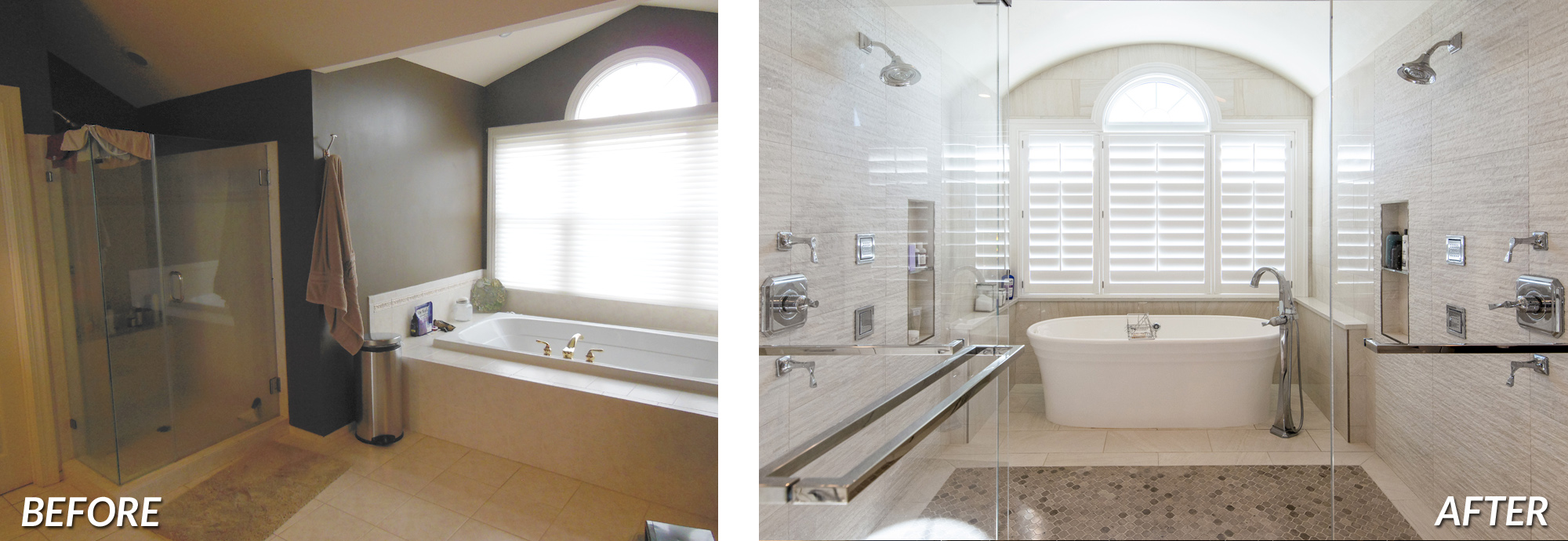 Leesburg Master Bath Renovation Before & After